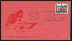 Mayfairstamps Canada FDC 1970 Childrens Painting First Day Cover wwp_53799