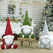 Christmas Santa Claus Toy Faceless Elderly Dolls for Home Show Window Xmas Decor