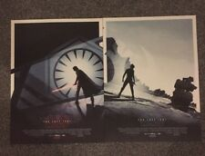More details for 2 x star wars the last jedi odeon premiere posters set limited edition a3
