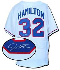 Texas Rangers Autographed Replica White Jersey Signed by Josh Hamilton