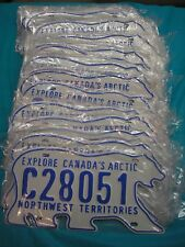 MINT 2011 Issue Northwest Territories Polar Bear Commercial License Plate