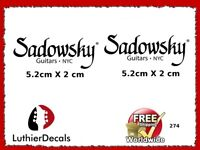 Sadowsky Guitar Decal Headstock logo inlay Waterslide 274