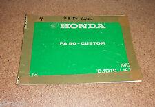 Teilkatalog Honda PA 50 Custom Stand 04/1982