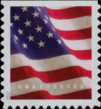2017 49c U.S. Flag Booklet Forever Single, SA Scott 5161 Mint F/VF NH