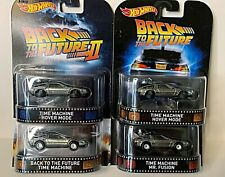 Lot of 4 Hot Wheels Back To The Future Movie Retro Entertainment Delorean Hover