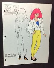 Jem and the Holograms Kimber Rock Fashion Book Cartoon Animation Model Cel 1980s