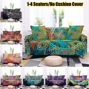 Psychedelic Mandala Sofa Cover Stretch Sofa Slipcovers Furniture Protector Cover