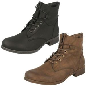 Ladies Spot On Lace Up - Ankle Boots