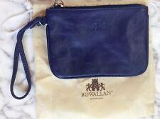 ROWALLAN of Scotland Navy Blue Leather Wristlet