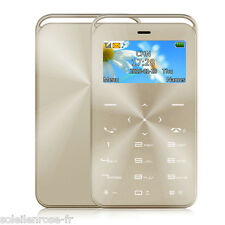 Pocket Mini Slim Card Cell Mobile Phone Cellphone GSM SIM Ultra Thin Bluetooth