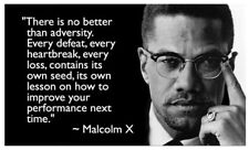 """Malcolm X Quote Inspirational Motivational Wall Silk Poster 40""""x24""""inch 08"""