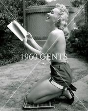 1950s NUDE 8X10 PHOTO OF BIG-BOOBS-NIPPLES ROSALIND ROBERTS FROM ORIGINAL NEG-1