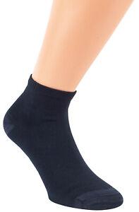 BAMBUS Kurzschaft Socken 39-42/43-46 blau 6/12er Pack aus Bambus-Zellstoff