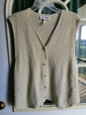 Two Twenty Knitted Vest, one size fits most (Oatmeal)