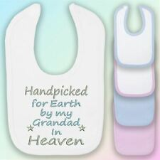 Handpicked for Earth Grandad Embroidered Baby Bib Gift Heaven