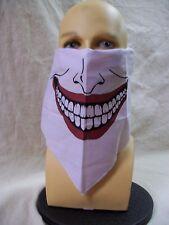 Villain Face Half Mask Bandana Comic Joker Big Grin Psycho Prankster Injustice