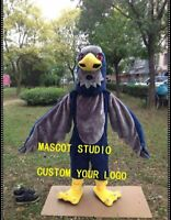 Halloween Grey Falcon Mascot Costume Hawk Eagle Anime Kit Theme Fancy Dress