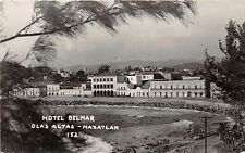 MAZATLAN SINALOA MEXICO~OLAS ALTAS~HOTEL BELMAR~WATERFRONT~REAL PHOTO POSTCARD
