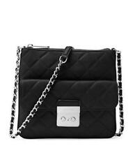 MICHAEL KORS Sloan Medium SwingPack Crossbody Quilted Leather Black NWT