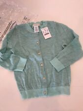 NWT 4-5 Yr Crewcuts J Crew Sea Mist Lurex Deborah sparkle Cardigan Sweater Girls