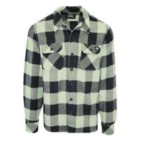 Dickies Men's Mint Green & Black Box Plaid Sacramento L/S Flannel Shirt (S01)