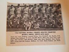 Wichita Kansas Service Auto Glass  1964 Baseball Team Picture