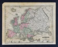 1882 McNally Map - Europe - Spain France Austria Germany Russia Britain Italy