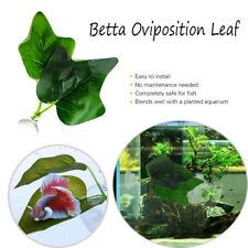 Betta Fish Tank Bowl Aquarium Betta Plant Resting Artificial 2 Leaf Pad--