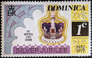 Stamp Dominica SG563 1977 1c Silver Jubilee Mint Hinged