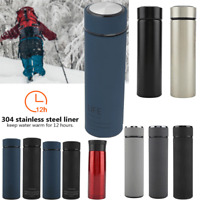 350-500ml Stainless Steel Vacuum Insulated Tea Water Bottle Flask Hot/Cold Cup
