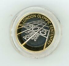 GB 2008 UK 4th Olympiad London £2 Piedfort Silver Proof Coin in Case with COA