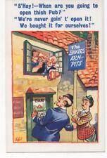 The Bakers Arm Pits Drunken Pub Vintage Comic Postcard 788b