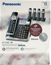 Panasonic KX-TG885SK DECT 6.0 Bluetooth Link2Cell 5-Handset Phone Bundle