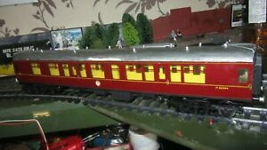 O GAUGE FINESCALE BR MAROON COACH IN USED CONDITION
