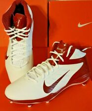 NEW ~ Nike Alpha Talon Elite 3/4 D Football Cleats White Red 14.5 526208 161