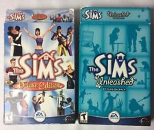 2 Lot: Sims: Deluxe Edition (PC, 2002)  Sims Unleashed Expansion Pack (PC, 2002)