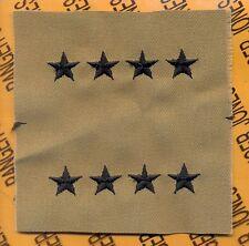 """USAF Air Force General GEN 0-10 Desert DCU 1/2"""" rank patch set"""