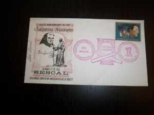 1972 SESCAL 200th Anniv. California Missions Cachet Artist Signed APS Cancel