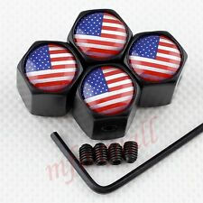 Antitheft Style Wheel Screw Tire Valve Air Cap Hat Cover USA United States Flag
