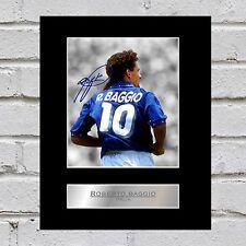 Roberto BAGGIO firmato montato Foto Display ITALIA