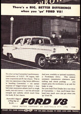 "1956 FORD CUSTOMLINE V8 AD A2 CANVAS PRINT POSTER FRAMED 23.4""x16.5"""