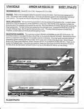 Flight Path Arrow Air Red DC-10 Decals 1/144 FP44 272