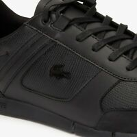 Lacoste Menerva 419 1 Mens Casual Black Leather Fashion Flat Shoes 38CMA0016-02H