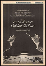 UNFAITHFULLY YOURS__Original 1980 Trade AD / poster__PETER SELLERS__Dudley Moore