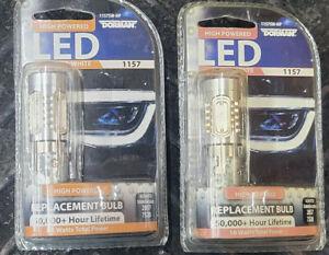 SET OF 2 LED TURN SIGNAL LIGHT BULBS FRONT/REAR DORMAN 1157SW-HP