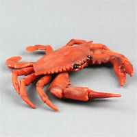 Large Red Crab Realistic Sea Animal Model PVC Plastic Solid Figure Toy Kids Gift