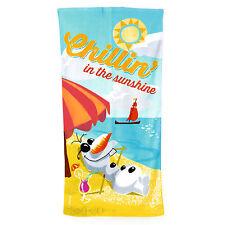 Disney Frozen Olaf Chillin In The Sunshine Kids Cotton Velour Beach Bath Towel