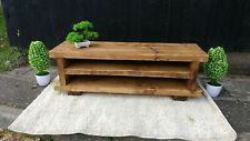 Rustic Pine TV Unit solid wood stand/cabinet -rustic pine wax finish
