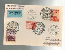 1936 Klagenfurt Austria Esperanto Congress Postcard Cover