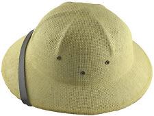MM Summer 100% Straw Pith Helmet Postman Hat Natural